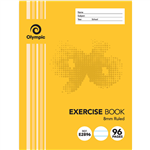 OLYMPIC E2896 EXERCISE BOOK 8MM FEINT RULED 55GSM 96 PAGE 225 X 175MM