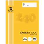 OLYMPIC E2824 EXERCISE BOOK 8MM FEINT RULED 55GSM 240 PAGE 225 X 175MM