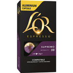 LOR ESPRESSO COFFEE PODS SUPREMO BOX 10