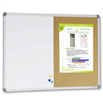 VISIONCHART COMBI WHITEBOARD AND CORKBOARD 1200 X 900MM