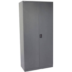 GO SWING DOOR CUPBOARD 3 SHELVES 910 X 450 X 1830MM GRAPHITE RIPPLE