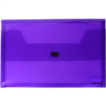 FOLDERMATE DOCUMENT WALLET POP GEAR PP HOOK AND LOOP CLOSURE FOOLSCAP PURPLE