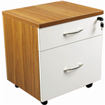 ARBOR EXECUTIVE MOBILE PEDESTAL 2 DRAWER AMERICAN OAK