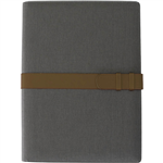 COLLINS FOLIO WITH IPAD STORAGE STRAP CLOSURE A4 BLACK