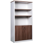 OM PREMIER CABINET HALF DOORS LOCKABLE 900 X 450 X 1800MM CASNANWHITE
