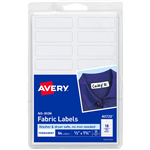 AVERY 40720 NOIRON FABRIC LABELS 18UP 45 X 13MM WHITE PACK 54
