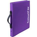 COLOURHIDE ZIPPER EXPANDING FILE PURPLE