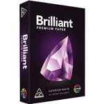 BRILLIANT PREMIUM A4 COPY PAPER 80GSM WHITE PACK 500 SHEETS