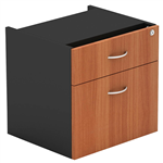 OM FIXED PEDESTAL 1 DRAWER 1 FILE 464 X 400 X 450MM CHERRYCHARCOAL
