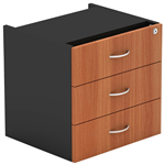 OM FIXED PEDESTAL 3 DRAWER 464 X 400 X 450MM CHERRYCHARCOAL