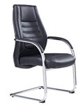 BOSTON VISITOR SEAT BLACK PU 120KG RATED