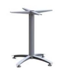 ASCOT STEEL MEETING TABLE PEDESTAL 4 STAR BASE ONLY IN SILVER SUITS UPTO 1200 DIAMETER TOP