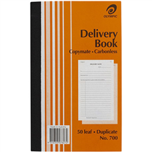 OLYMPIC 700 DELIVERY BOOK CARBONLESS DUPLICATE 50 LEAF 200 X 125MM